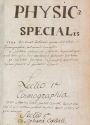 Cover of Physica specialis