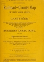 """Cover of """"P.J. Hannifan & Co.'s new commercial railroad and county map of New York State and gazetteer"""""""