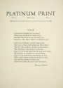 "Cover of ""Platinum print"""