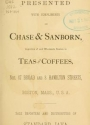 Cover of Presented with compliments of Chase & Sanborn
