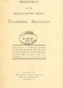 """Cover of """"Proceedings of the American Electric Railway Engineering Association ... containing a complete report of the ... Annual Convention, held at"""""""