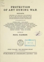 """Cover of """"Protection of art during war v. 1"""""""