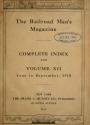 """Cover of """"Railroad man's magazine"""""""