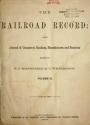 """Cover of """"Railroad record"""""""