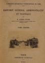 Cover of Rapport général administratif et technique t. 6