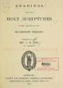 """Cover of """"Readings from the Holy Scriptures in the language of the Blackfoot Indians"""""""