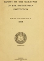 """Cover of """"Report of the Secretary of the Smithsonian Institution"""""""