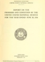 "Cover of ""Report on the progress and condition of the United States National Museum"""