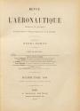 Cover of Revue de l'aéronautique théorique et appliquée v.2-4 (1889-1891)