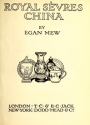 "Cover of ""Royal Sèvres china"""