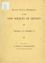 Cover of Second annual exhibition of the New Society of Artists