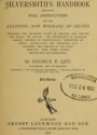 Cover of The silversmith's handbook