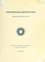 "Cover of ""Smithsonian Institution budget justifications for the fiscal year ... submitted to the Committees on Appropriations, Congress of the United States"""