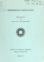 """Cover of """"Smithsonian Institution budget justifications for the fiscal year ... submitted to the Committees on Appropriations, Congress of the United States"""""""