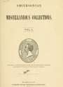"Cover of ""Smithsonian miscellaneous collections"""