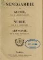 """Cover of """"Sénégambie et Guinée"""""""