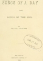 Cover of Songs of a day