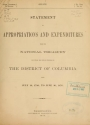 """Cover of """"Statement of appropriations and expenditures from the national Treasury for public and private purposes in the District of Columbia, from July 16, 1790, to June 30, 1876"""""""