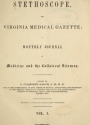 """Cover of """"The Stethoscope and Virginia medical gazette"""""""