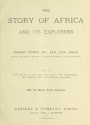 "Cover of ""The story of Africa and its explorers v. 3"""