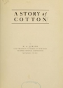"""Cover of """"A story of cotton /"""""""