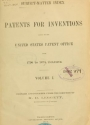 "Cover of ""Subject-matter index of patents for inventions issued by the United States Patent office from 1790 to 1873, inclusive ... /"""