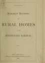 """Cover of """"Suburban stations and rural homes on the Pennsylvania Railroad"""""""
