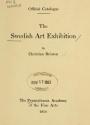 "Cover of ""Swedish art exhibition"""