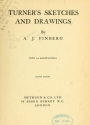"Cover of ""Turner's sketches and drawings"""