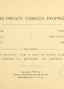 Cover of United States private tobacco proprietary stamps