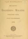 "Cover of ""Van Nostrand's eclectic engineering magazine"""