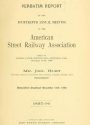 """Cover of """"Verbatim report of the ... Annual Meeting of the American Street-Railway Association"""""""