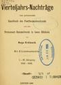 Cover of Vierteljahrs-Nachträge zum permanenten Handbuch der Postfreimarkenkunde und dem Permanent-Sammelwerk in losen Blättern