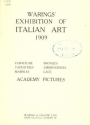 Cover of Warings' exhibition of Italian art 1909