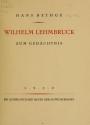 Cover of Wilhelm Lehmbruck zum Gedächtnis