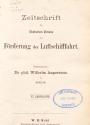 Cover of Zeitschrift des Deutschen Vereins zur Folrderung der Luftschiffahrt
