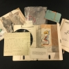 S.M.S., no. 6, open portfolio with object laid out