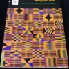 Cover of the book Wrapped in Pride showing an abstract pattern of Kente Cloth designs