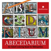 Cover of the ABECEDARIUM book showing a dozen illustrated letters
