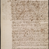 first page of a handwritten letter from Galileo Galilei letter Nicolas Peiresc in 1635