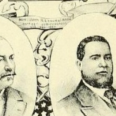 COLORED MEN WHO SERVED IN THE CONGRESS OF THE UNITED STATES. Image sourced from The Negro in American History; men and women eminent in the evolution of the American of African descent by John Wesley Cromwell, 1914.