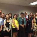 Nancy Gwinn with 2013 Summer Interns