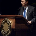 Image of Presidential historian Michael Beschloss speaking at the Libraries' Price of Freedom Event