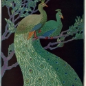 Peacocks by Albert W. Heckman from the November 1919 issue of Keramic Studio. Courtesy of the Smithsonian American Art-National Portrait Gallery Library.
