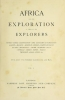 Cover of Africa and its exploration v. 1