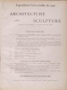 Cover of L'architecture and la sculpture al l'Exposition de 1900