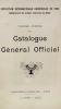 Cover of Catalogue général officiel t. 4 annexe