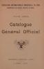 Cover of Catalogue général officiel annexe