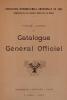Cover of Catalogue général officiel t. 5 annexe