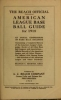 """Cover of """"The Reach official American League base ball guide"""""""
